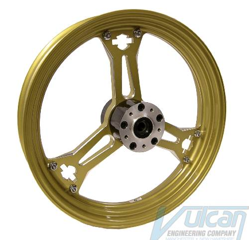 Billet 3-Spoke Gold Wheel