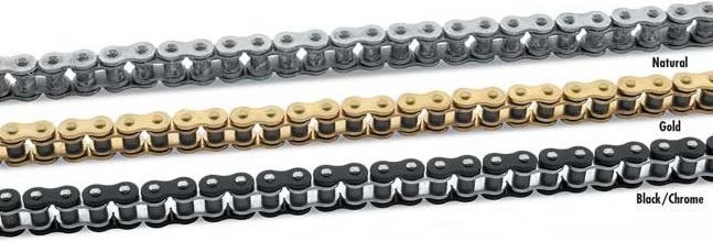 530 O-Ring Chain- Natural, Black, Gold