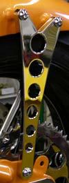 Rigid Frame Fender Strut - Machine Gun Style