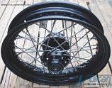 """16"""" Front Wire Wheel, Black, Single Disk, 2000-Up"""
