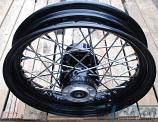 """16"""" Rear Wire Wheel, Black, Harley 40 Spoke, 2000-Up"""